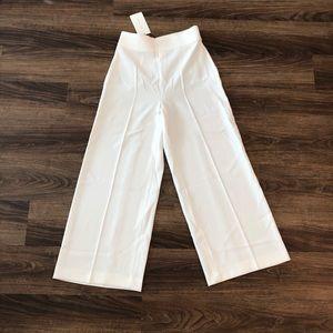 Zara White Flowy Pants